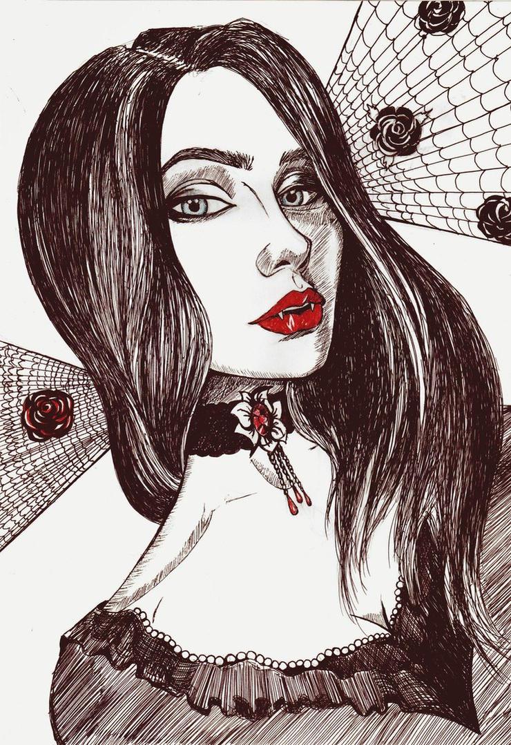 Vamp portrait by Mizecki
