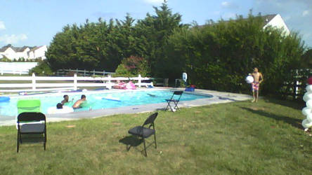 Aunt's party pic #3: Pool