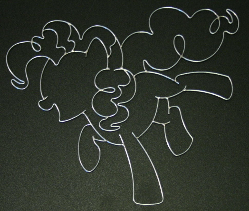 Wire Art Pinkie Pie Wire Art Commission By Databytebrony On Deviantart