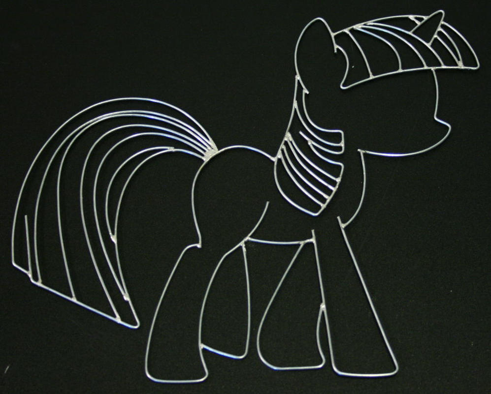 Wire Art Twilight Sparkle Wire Art By Databytebrony On Deviantart