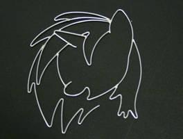 Vinyl Scratch mane wire art