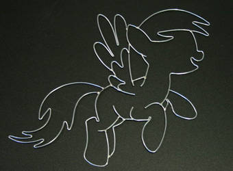 Derpy Hooves wire art by DataByteBrony