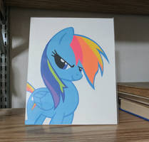 Rainbow Dash Paper Art