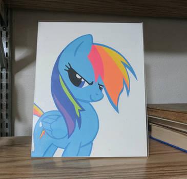 Rainbow Dash Paper Art by DataByteBrony