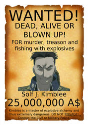 Wanted poster Solf J. Kimblee