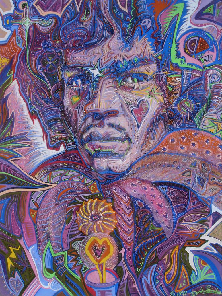 Jimi hendrix psychedelic haze by sandersartgallery on - Jimi hendrix wallpaper psychedelic ...