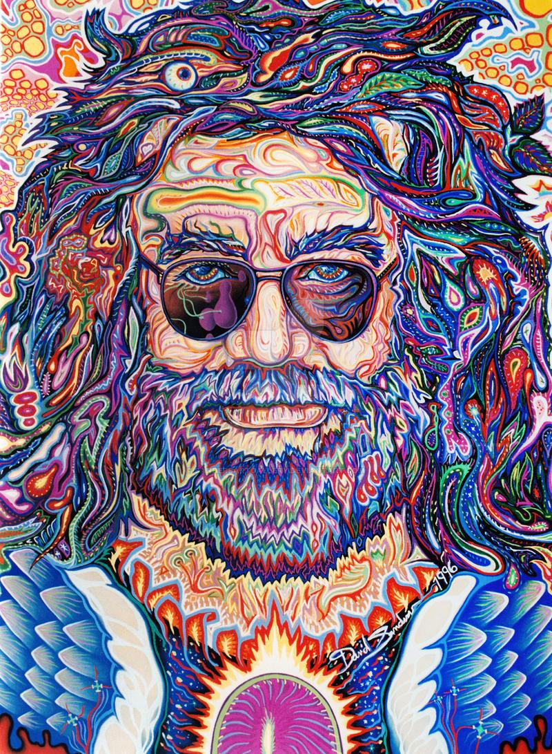 Jerry Garcia Captain Trips By Sandersartgallery