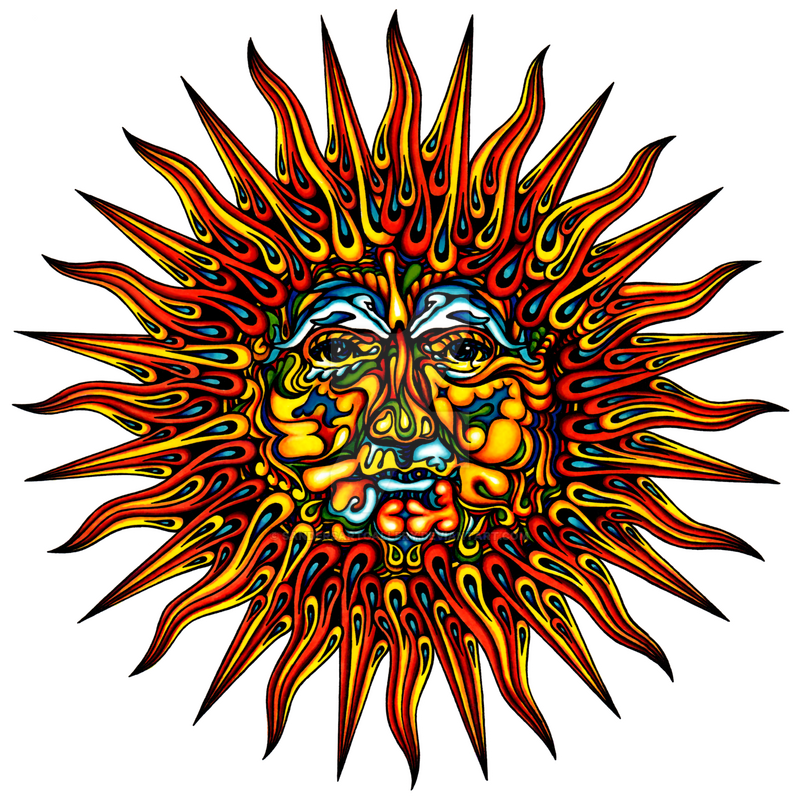 Psychedelic Sun by sandersartgallery on DeviantArt