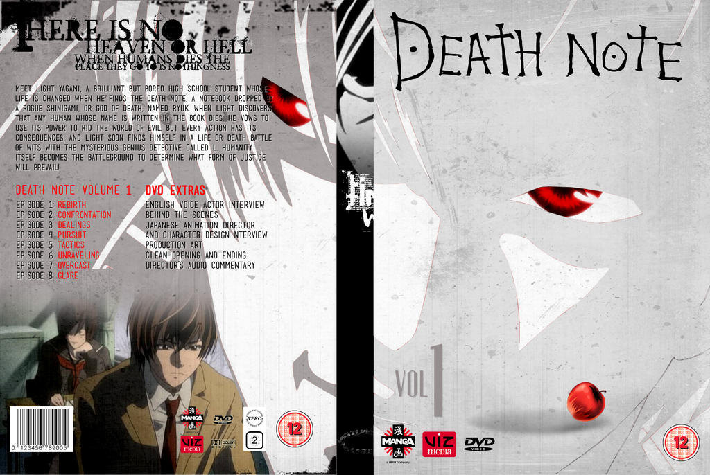Death Note Volume 1: DVD Cover 1 by focused-art on DeviantArt