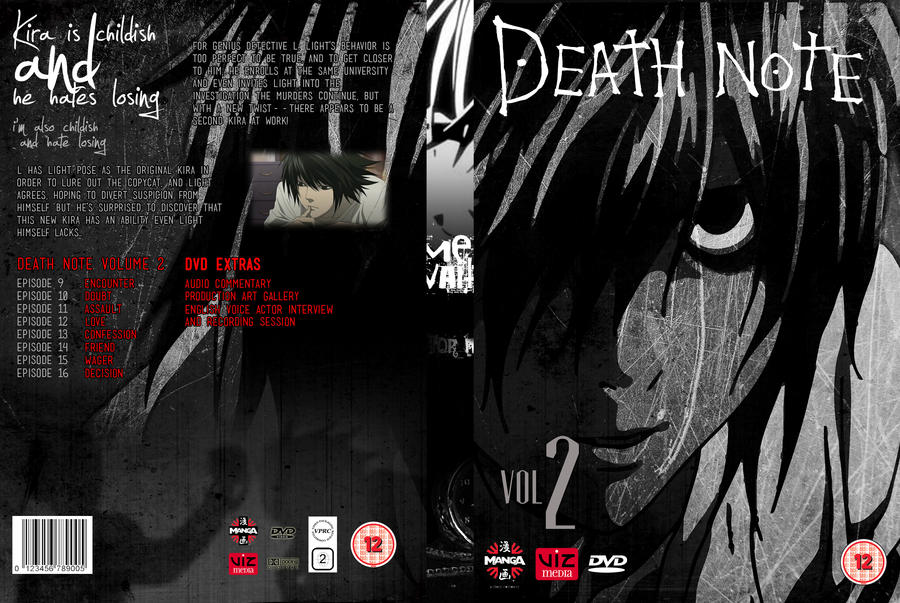 Death Note Volume 2: DVD Cover 2 by focused-art on DeviantArt