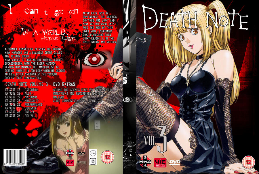 Death Note Volume 3: DVD Cover 3 by focused-art on DeviantArt