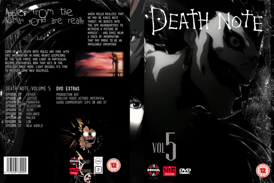 Death Note Volume 5: DVD Cover 5 by focused-art on DeviantArt