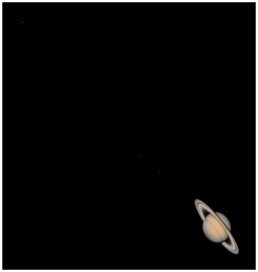 Saturn and Moons 15-12-2006 by Chrissyo