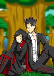 Shinji (OC) x Ruby: Resting by Godking20