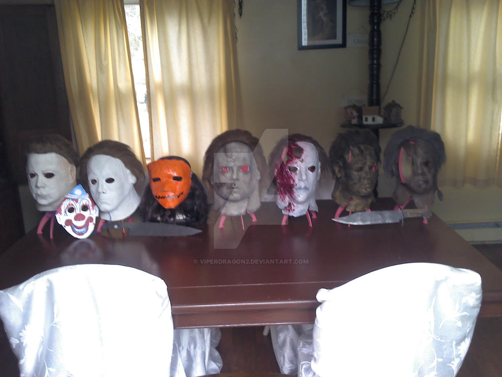 rob zombie halloween michael myers mask collection by viperdragon2 - Rob Zombie Halloween Mask For Sale