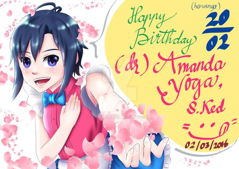 Kikuchi Makoto - Happy Birthday Amanda! by Clyte