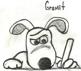 gromit is writing by beto-zoka