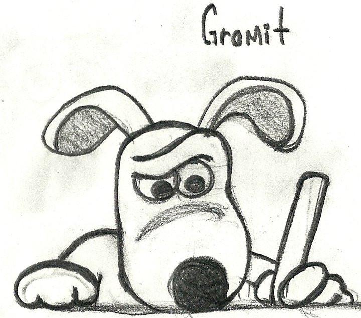 gromit is writing by beto-zoka on DeviantArt