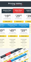 7 Pricing tables - Pack 4 by ShadarL