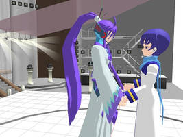 MMD - Gakupo and Kaito by AsphyxiatedPuppeteer