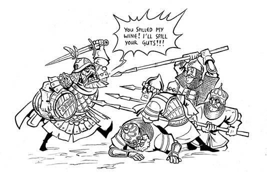 Inktober Sketch: Nikephoros Pastilas