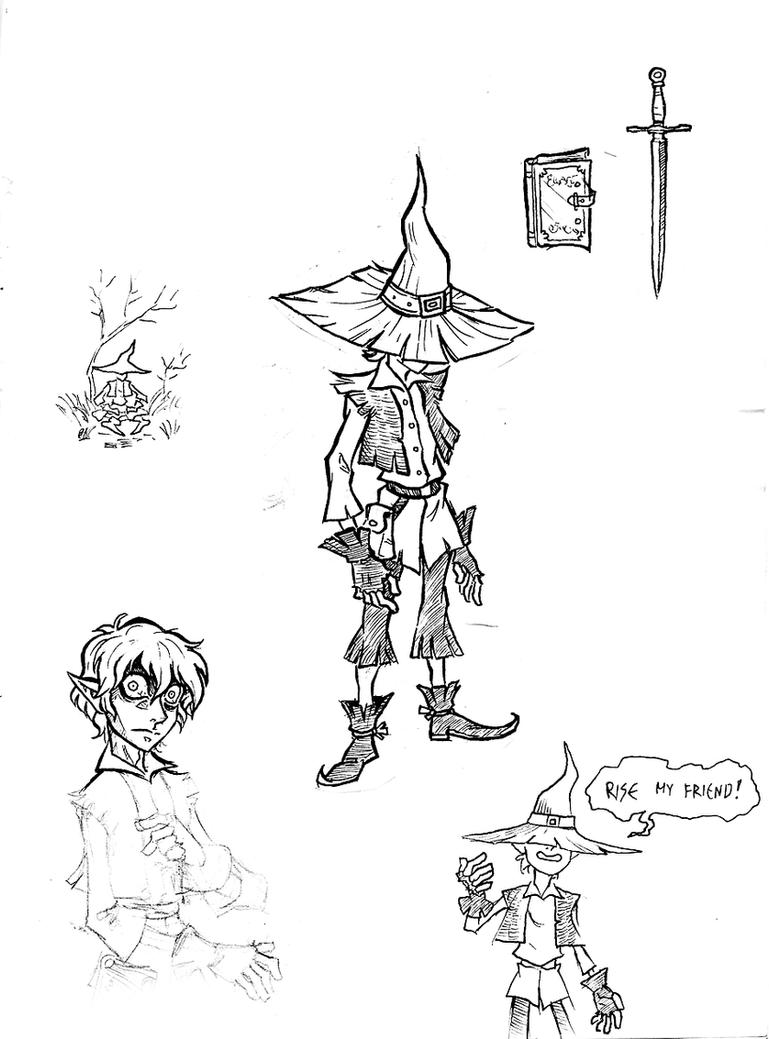 Rickert the Wizard Concept Art by NikosBoukouvalas