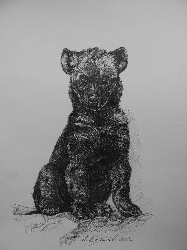 hyena pup by naitiron