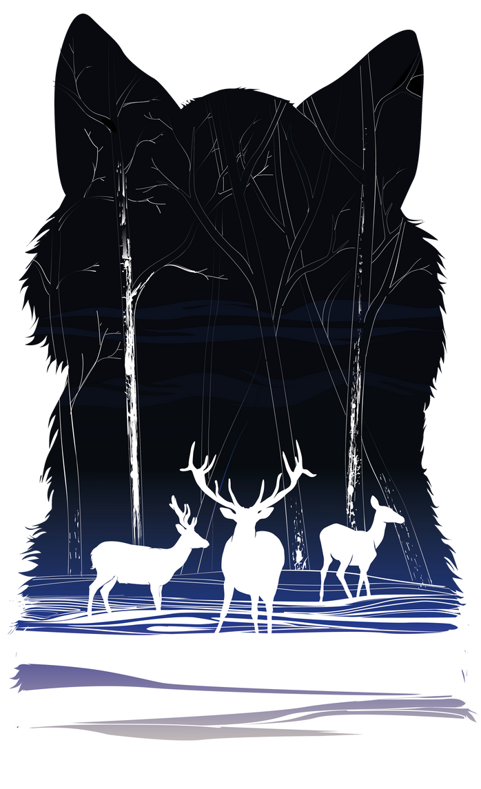 Snow deers by naitiron