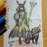 Pokemon Gijinka: Umbreon, the Black Mage
