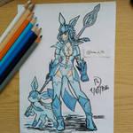 Pokemon Gijinka: Glaceon, the Lancer