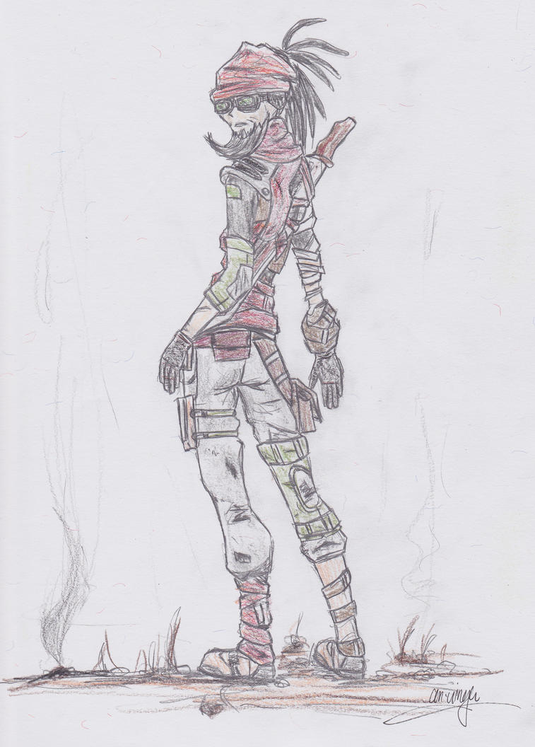 Borderlands 2 - Mordecai by artworksOFjudge