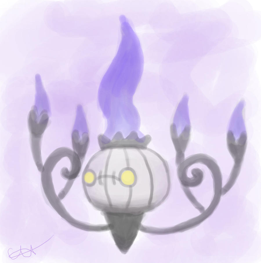 Chandelure Paint Practice by Holy-Paladin-Dareyn