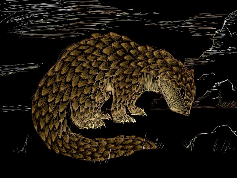sandshrew... or Giant Pangolin by Dark-Luna-chaotik