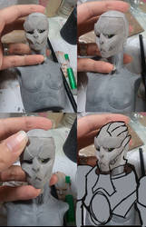 Turian BJD head by batchix