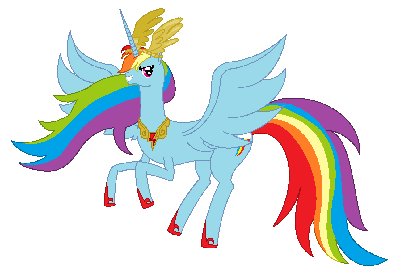 Alicorn Rainbow Dash by RandomThingsILikeMlp Alicorn Rainbow Dash