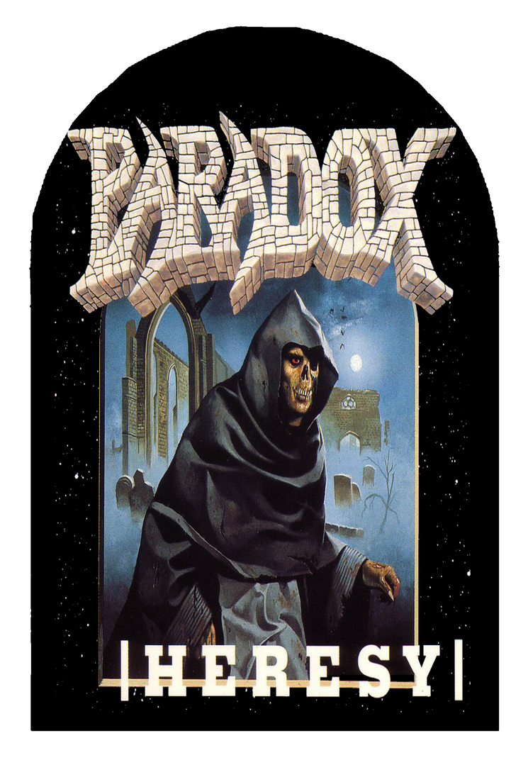 Paradox Heresay Tombstone - sublimated design by ThrashfanBert1994