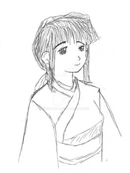 Resketch of Concept Character for Story