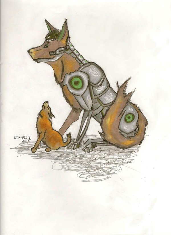 Cyberdog and Pup by Cirprius