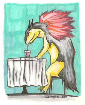 Typhlosion with Bubble Tea