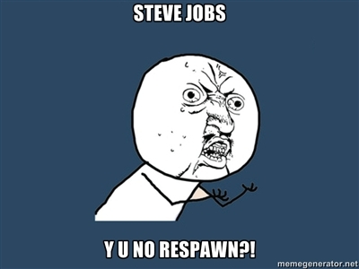 Steve Jobs Y U NO by Atom-Smasher-Errors