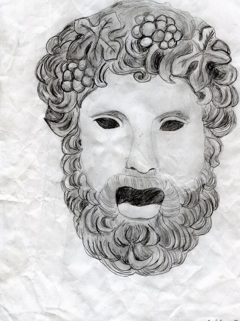 Ancient greek mask by kakashiette on deviantart for Ancient greek mask template