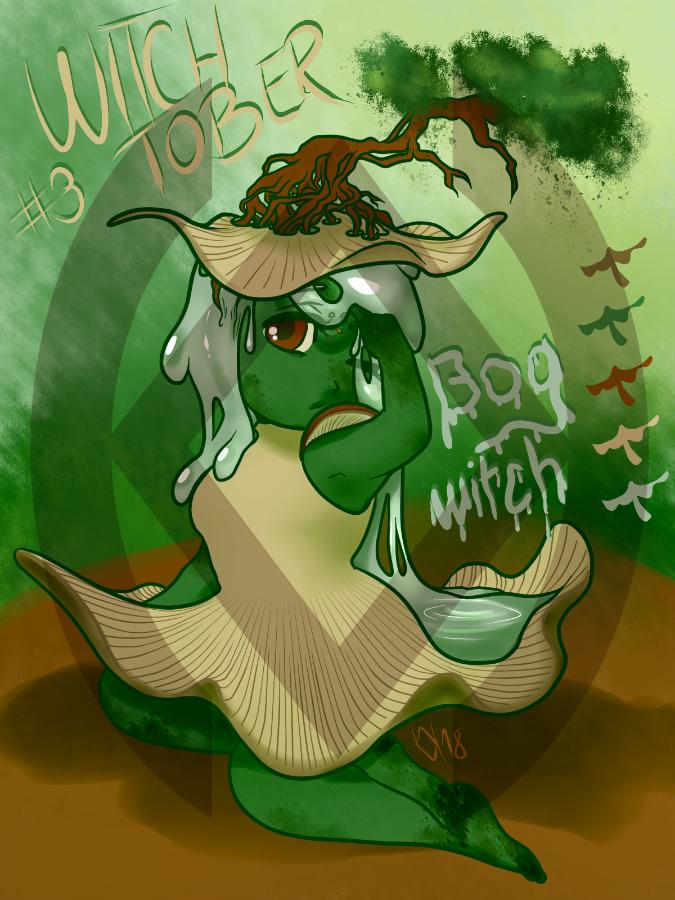 [OPEN] PTA Witchtober Adopt: Bog Witch by Broeckchen