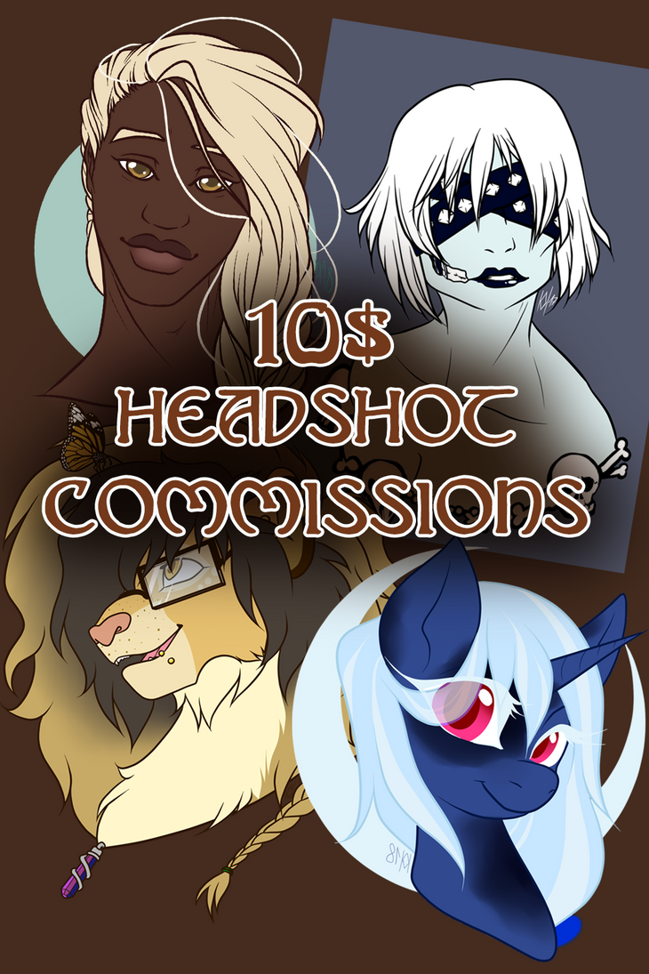 Headshot Commissions by Broeckchen