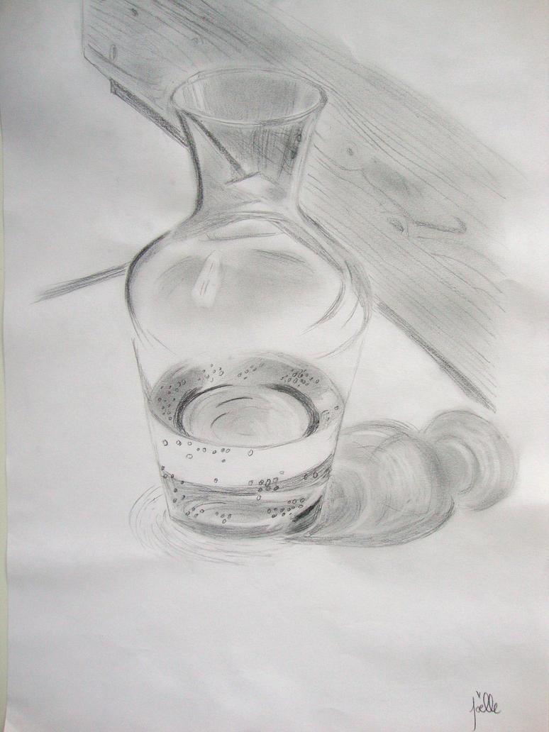 carafe d 39 eau sur une table by jojo lifia on deviantart. Black Bedroom Furniture Sets. Home Design Ideas