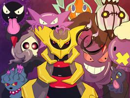 Ghost Pokemon by lavi-n