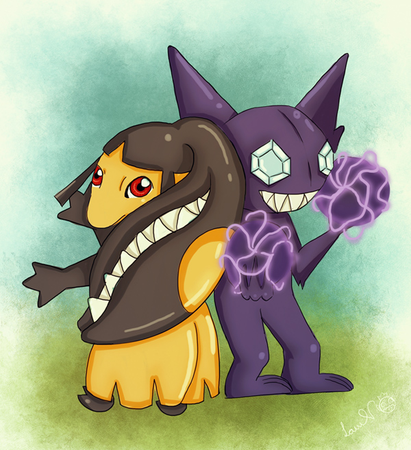 Sableye and Mawile by lavi-n