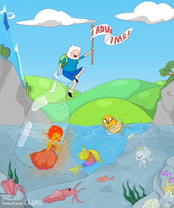 Adventure Time Art Collab by lavi-n