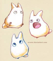 Lil' Totoros by Erunei