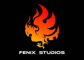 Logo Fenix Studio 2 - fondo negro by fabiofenix88