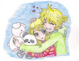 Rin and Len vocaloid by HelenJoycePI